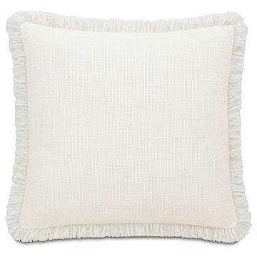 Portage White With Brush Fringe