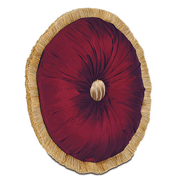 Edris Cranberry Round Tufted