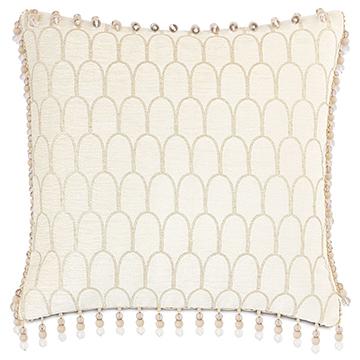 Jolene Beaded Trim Decorative Pillow