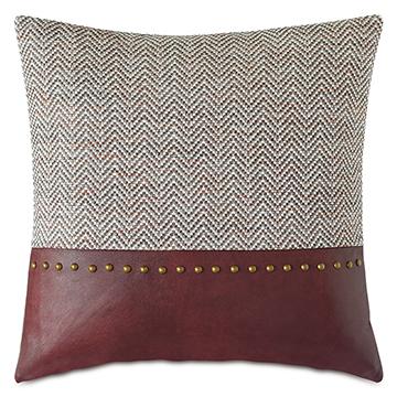 Kilbourn Nailhead Decorative Pillow