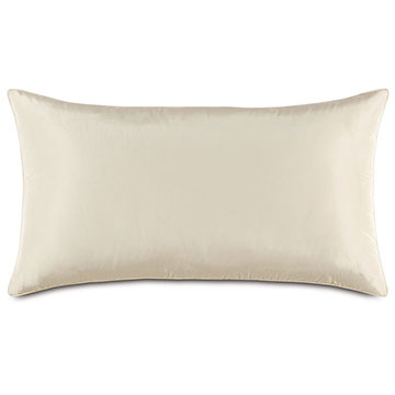 Freda Taffeta King Sham in Ivory