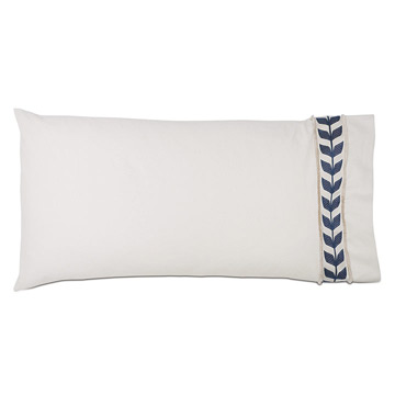 Akela Leaf King Sham In Blue (Right)