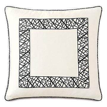 Medara Graphic Border Decorative Pillow