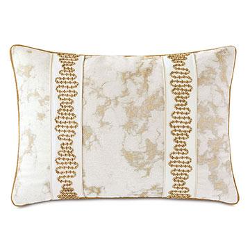 Marceau Metallic Marble Decorative Pillow