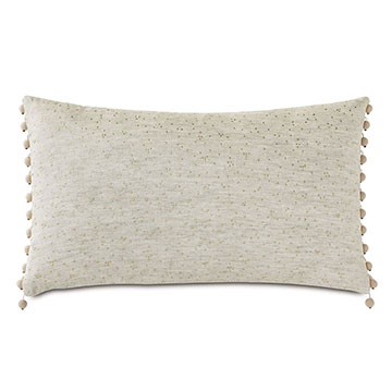 Marceau Gold Dotted Decorative Pillow