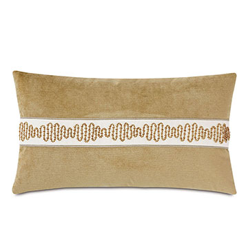 Marceau Metallic Border Decorative Pillow
