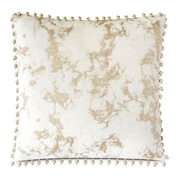 Marceau Ball Trim Decorative Pillow