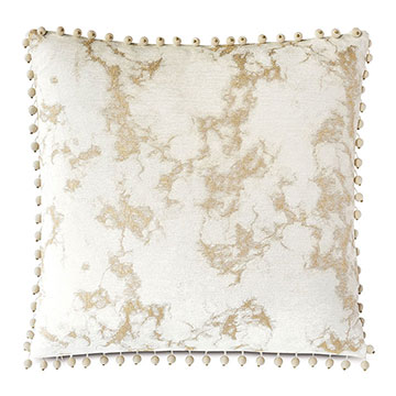 Marceau Ball Trim Decorative Pillow