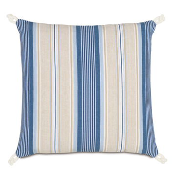 Maritime Stripe Accent Pillow In Blue