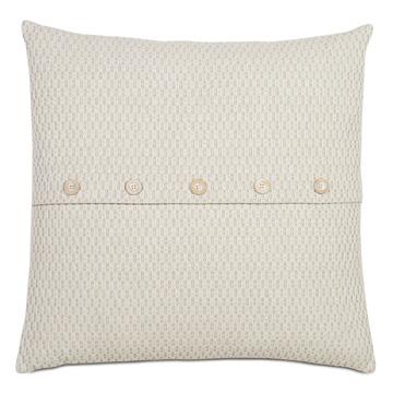 Maritime Coastal Accent Pillow In Cream