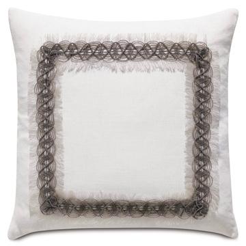 Naomi Border Accent Pillow In White