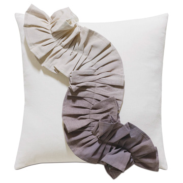 Naomi Pleated Accent Pillow In Purple