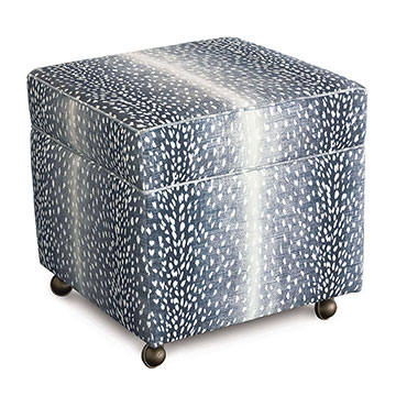 Wiley Storage Ottoman in Navy
