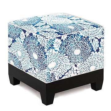 Indira Ink Cube Ottoman