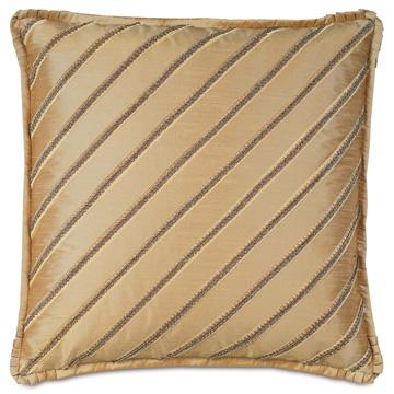 Roxanne Diagonal Trim Decorative Pillow