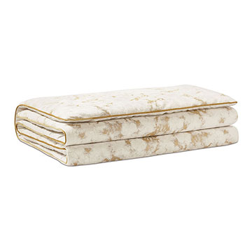 Marceau Metallic Marble Bed Scarf