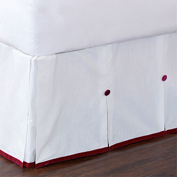 Baldwin White Bed Skirt