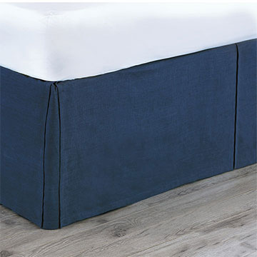 Breeze Indigo Bed Skirt