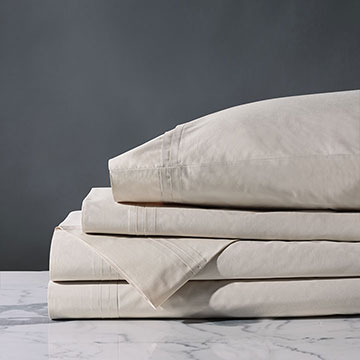 Vail Percale Sheet Set In Bisque