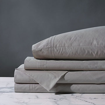 Vail Percale Sheet Set In Heather