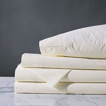 Vail Percale Sheet Set In Ivory