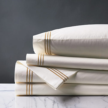 Tessa Ivory/Antique Sheet Set