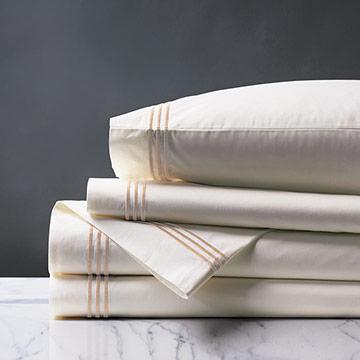 Tessa Ivory/Blush Sheet Set