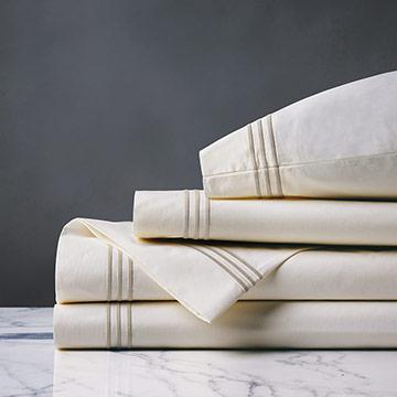 Tessa Ivory/Sable Sheet Set