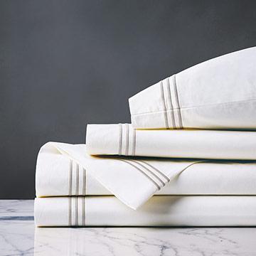 Tessa White/Creme Sheet Set