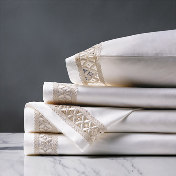 Juliet White/Ivory Sheet Set