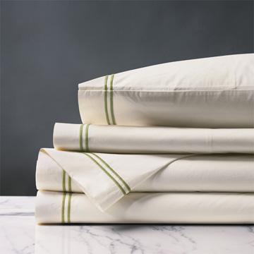 Enzo Ivory/Lime Sheet Set