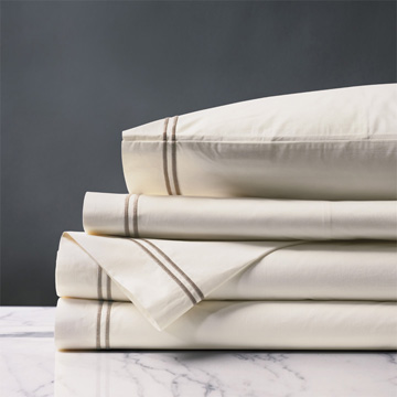 Enzo Ivory/Sable Sheet Set