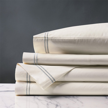 Enzo Ivory/Silver Sheet Set