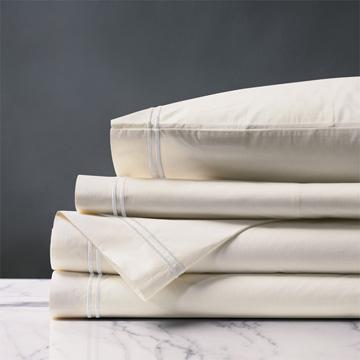 Enzo Ivory/White Sheet Set