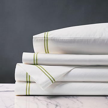 Enzo White/Lime Sheet Set