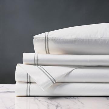 Enzo White/Silver Sheet Set