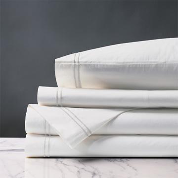 Enzo White/White Sheet Set