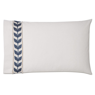 Akela Leaf Standard Sham In Blue (Left)