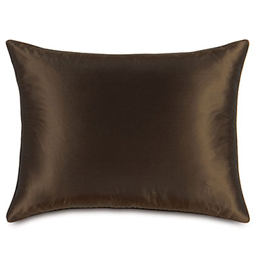 Freda Taffeta Standard Sham in Chocolate