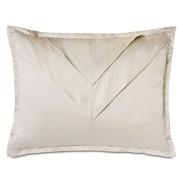 Marceau Mitered Pleat Standard Sham