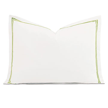 Enzo White/Lime Standard Sham