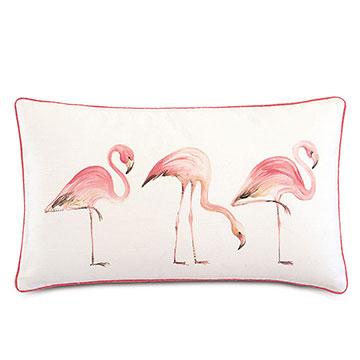 Sumba Hand-Painted Flamingos