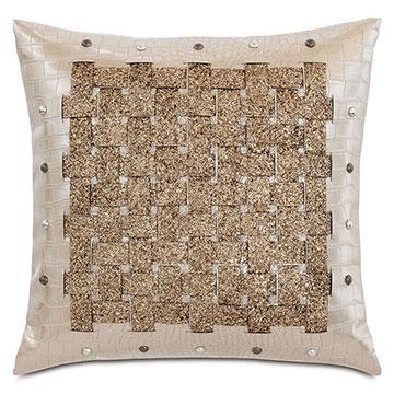 Valentina Basketweave Decorative Pillow