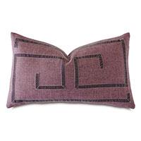 Sherlock Ribbon Decorative Pillow in Purple