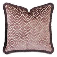 Watson Diamond Decorative Pillow in Plum