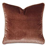 Velda Velvet Decorative Pillow in Rose