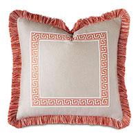 Meander Greek Key Decorative Pillow