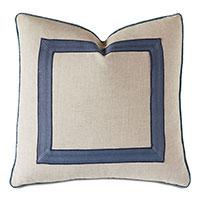 Larkspur Ribbon Decorative Pillow