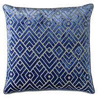 Watson Diamond Decorative Pillow in Cobalt