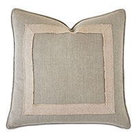 Breeze Mitered Decorative Pillow in Linen